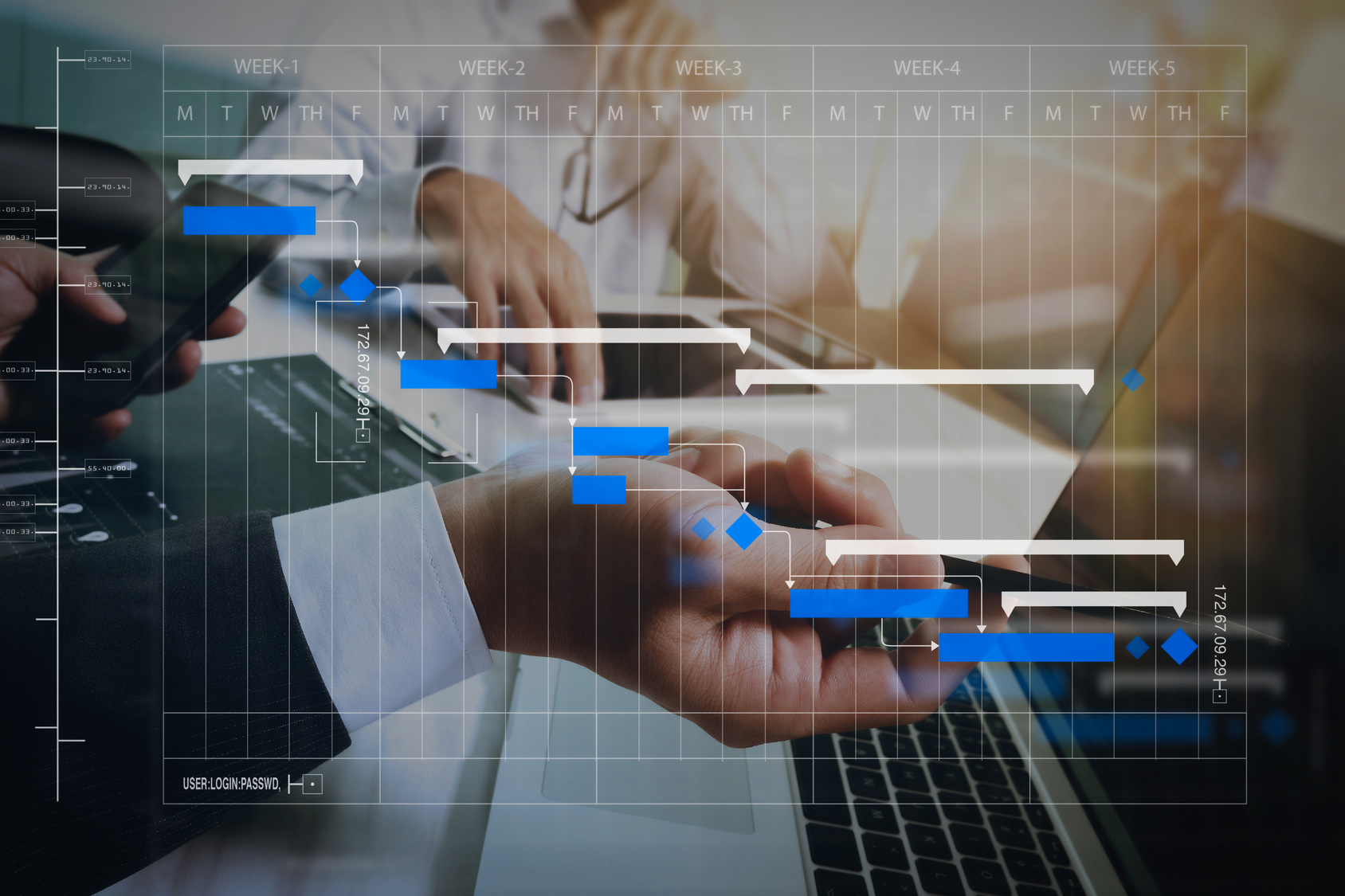 Updating your project GANTT chart with uncertainty information
