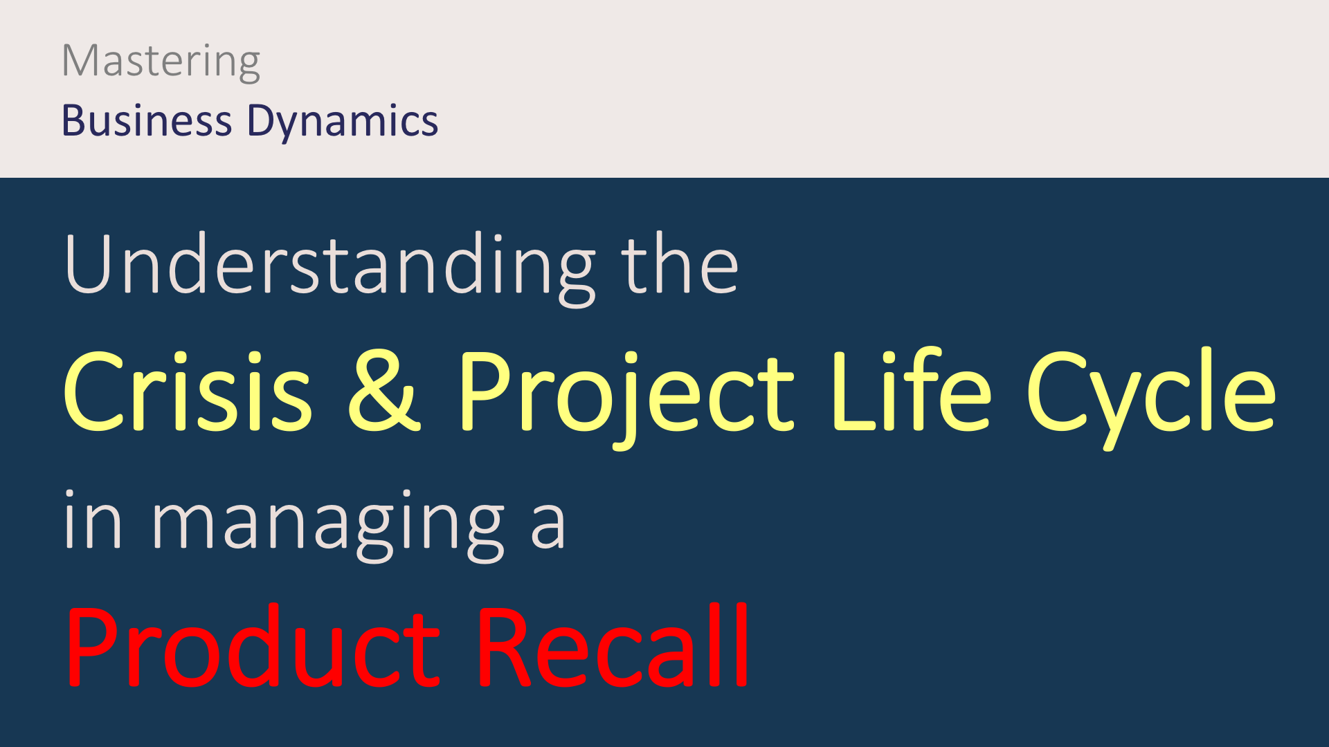 how to manage a product recall - produkt rückruf